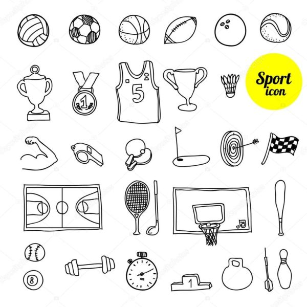 Картинки для срисовки спорт (53 фото)