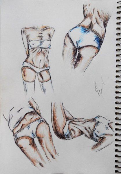Рисунки карандашом женского тела (25 фото)