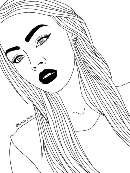 Черно-белые рисунки для срисовки в ЛД (32 фото)