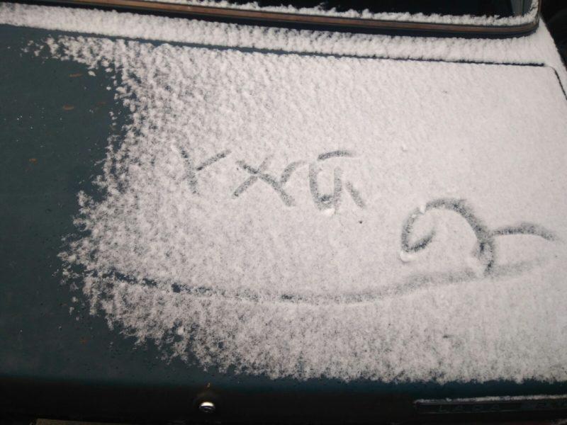 Картинки «С первым снегом!» с надписью (30 фото)
