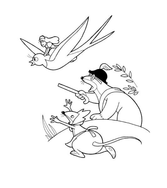 Рисунки к сказке «Дюймовочка» карандашом (29 фото)