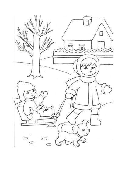 Рисунки карандашом Зима (32 фото)