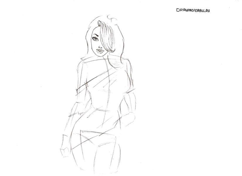 Рисунки карандашом поэтапно красивые девушки (22 фото)