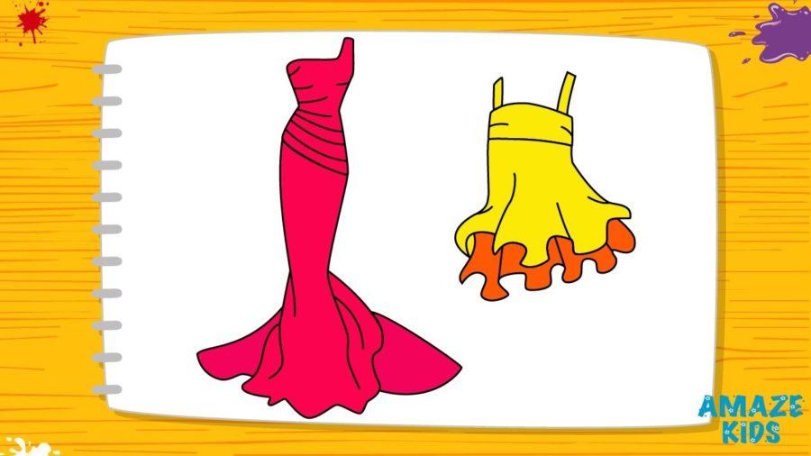 Рисунки для срисовки легкие и красивые одежда (35 фото)