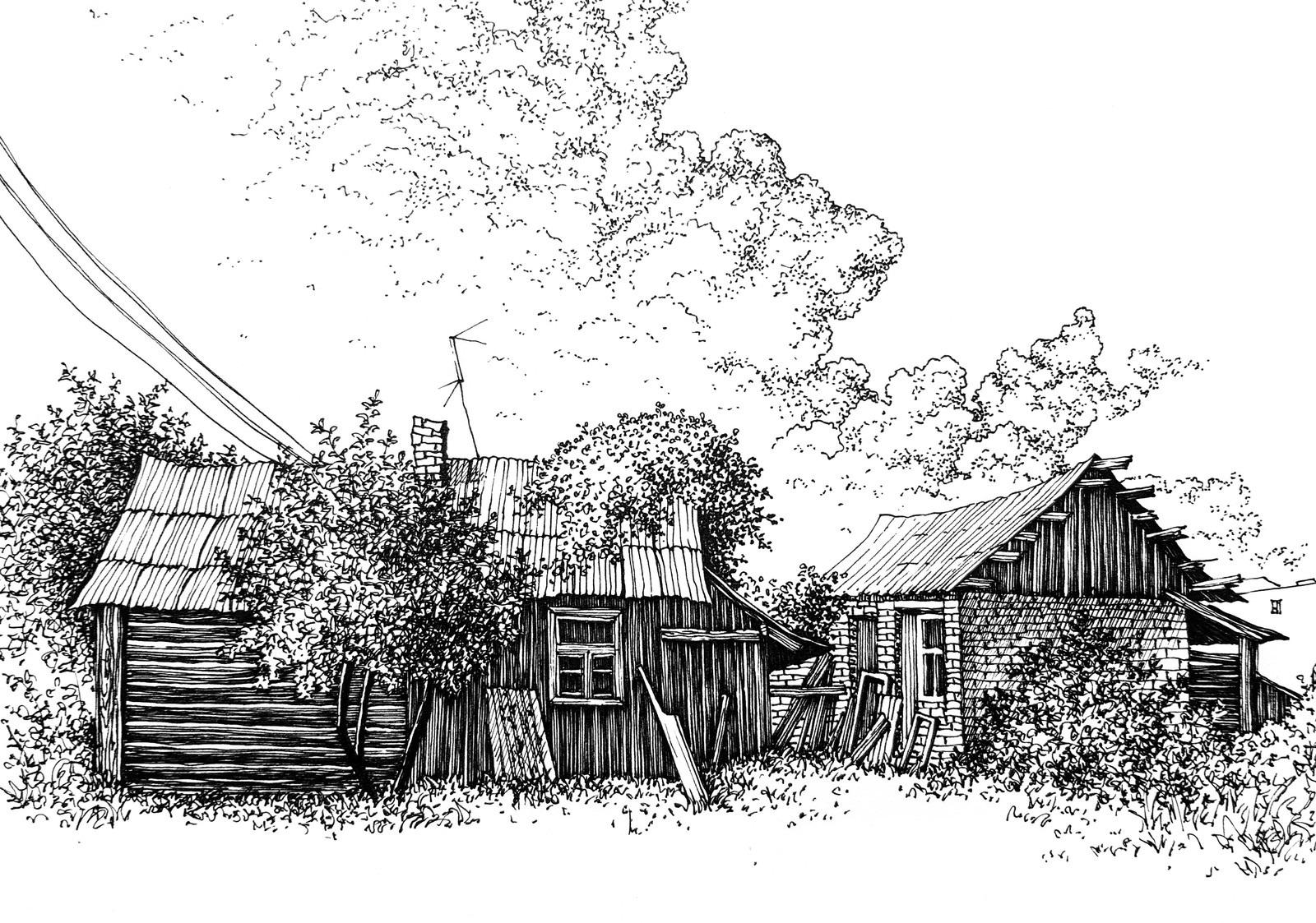 Рисунки карандашом, как я провел лето (20 фото)
