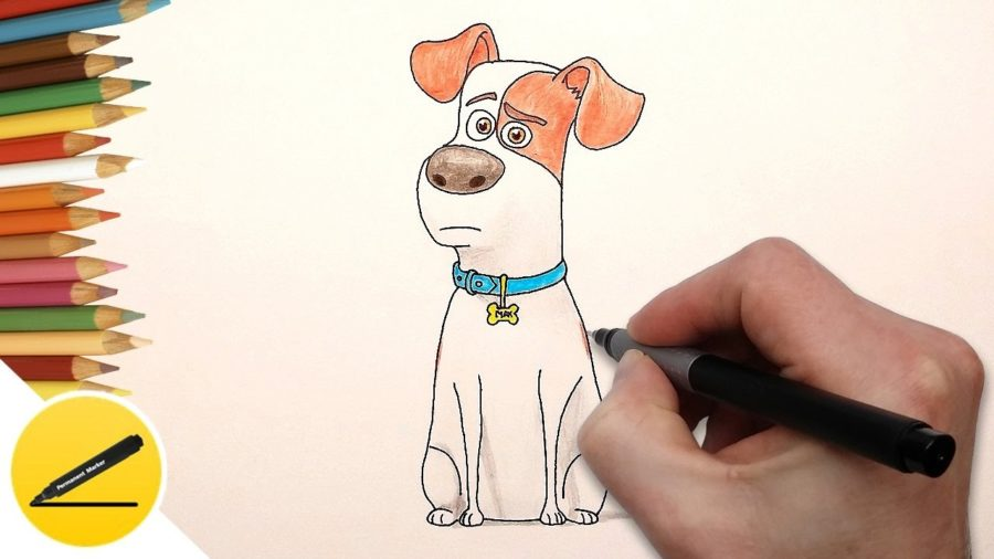 Рисунки собаки карандашом для детей поэтапно (30 фото)