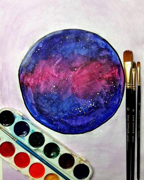 Рисунки космоса для срисовки (63 фото)