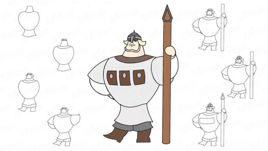 Рисунок Три богатыря карандашом для детей (22 фото)