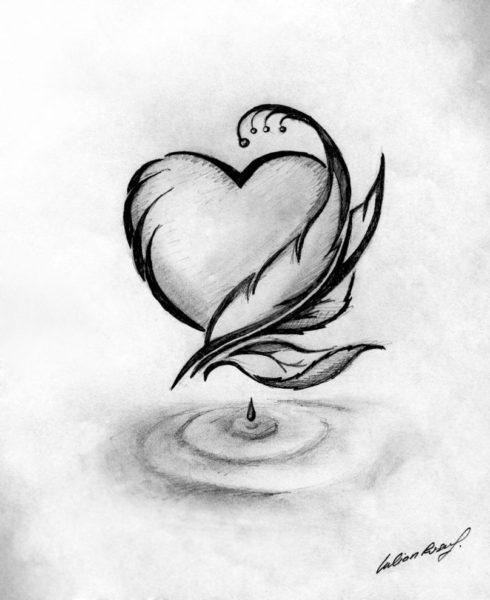 Рисунки цветов для срисовки (31 фото)