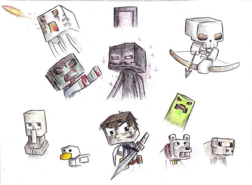 Картинки майнкрафт для срисовки (55 фото)