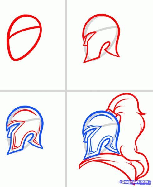 Рисунки рыцарей в доспехах карандашом (20 фото)