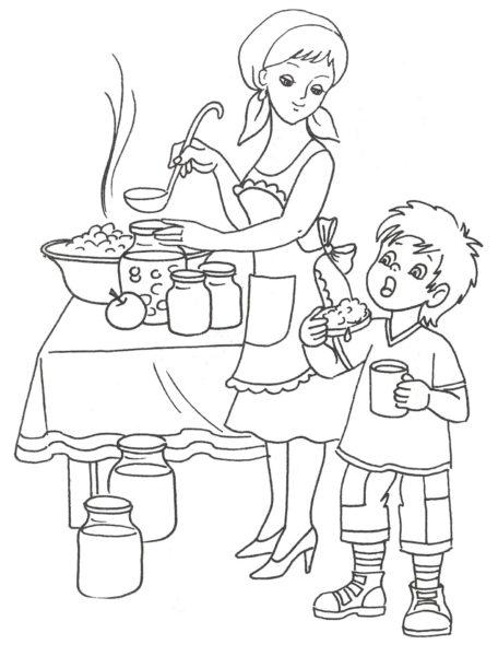 Рисунки карандашом матери и ребенка (31 фото)