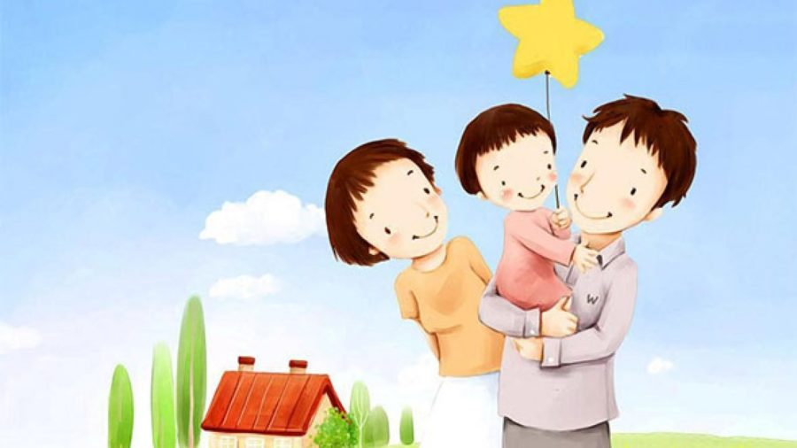 Рисунки семьи карандашом для детей (17 фото)