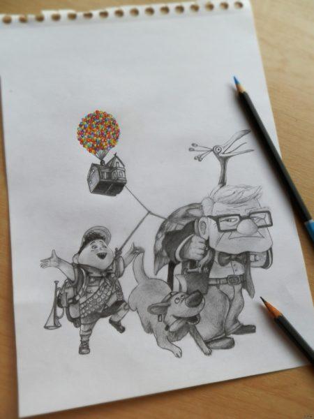 Рисунки цветные для срисовки Простоквашино (19 фото)