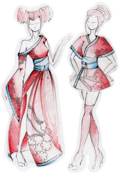 Рисунки одежды для срисовки (61 фото)