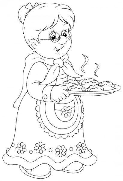 Картинки для срисовки бабушек (17 фото)
