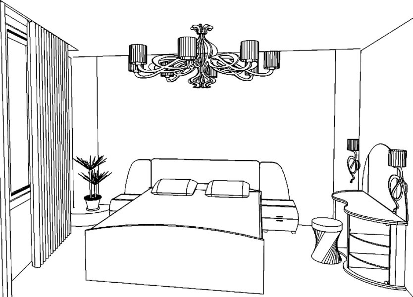 Картинки для срисовки комната (22 фото)