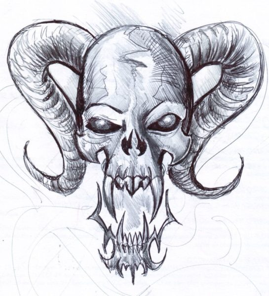 Страшные картинки карандашом для срисовки (31 фото)