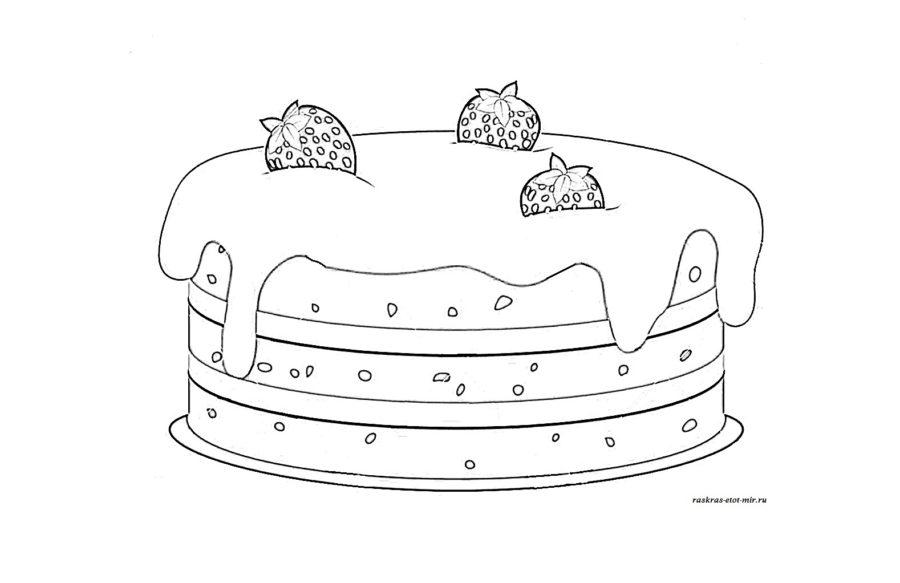 Рисунки тортиков для срисовки (58 фото)