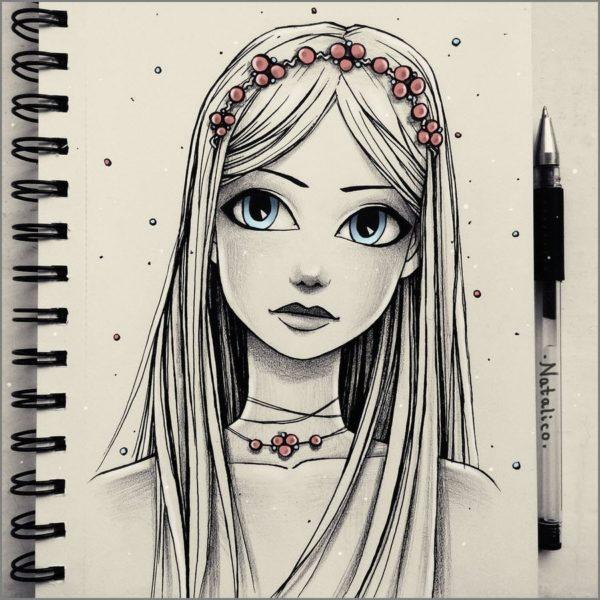 Рисунки современных девушек для срисовки (56 фото)