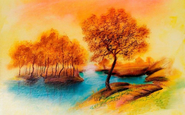 Пейзажи для срисовки (31 фото)